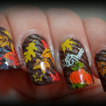 Thanksgiving nail art by Nicky