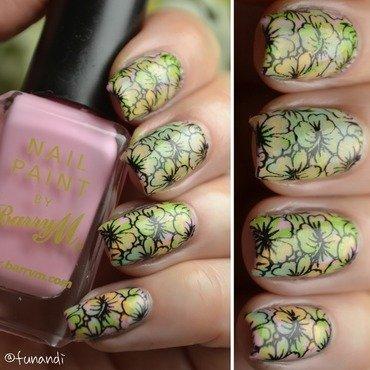 Floral nail art nail art by Andrea  Manases