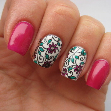 Flowers 6 nail art by specialle