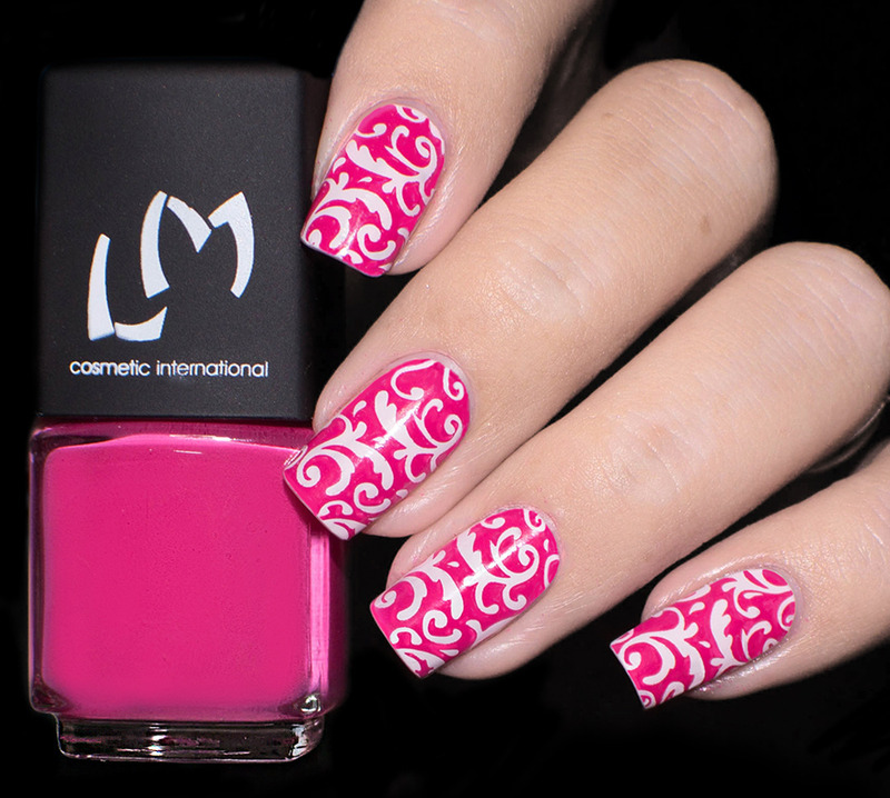 Vernis à Stamping Rose Fushia - LM nail art by Lizana Nails