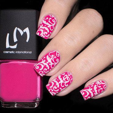 Vernis à Stamping Rose Fushia - LM nail art by Lizana Nails