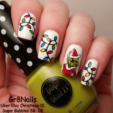 The Grinch nail art by Gr8Nails