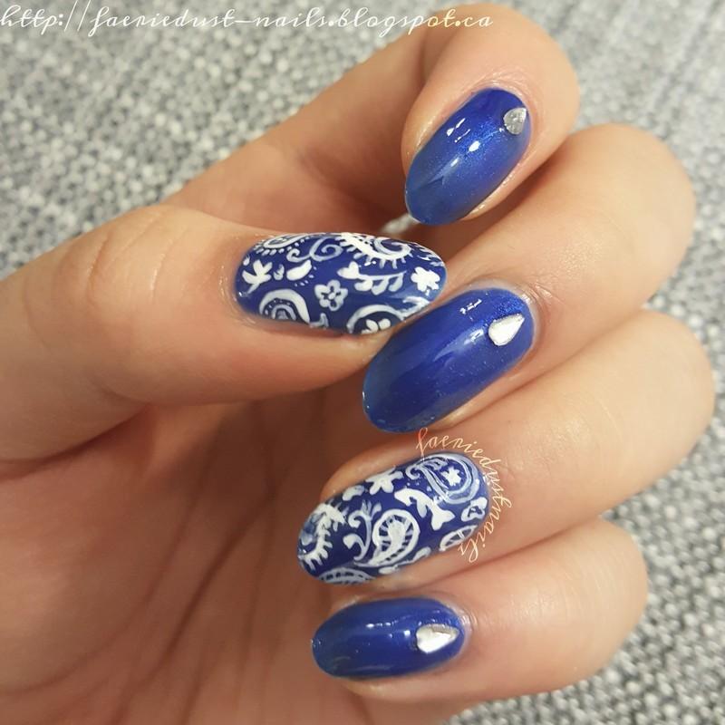 Paisley Nails nail art by Shirley X.