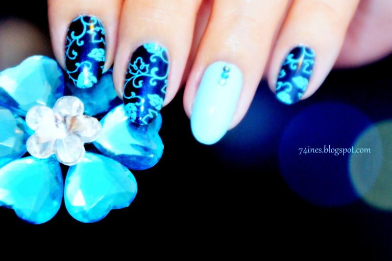 November Rain  nail art by 74ines