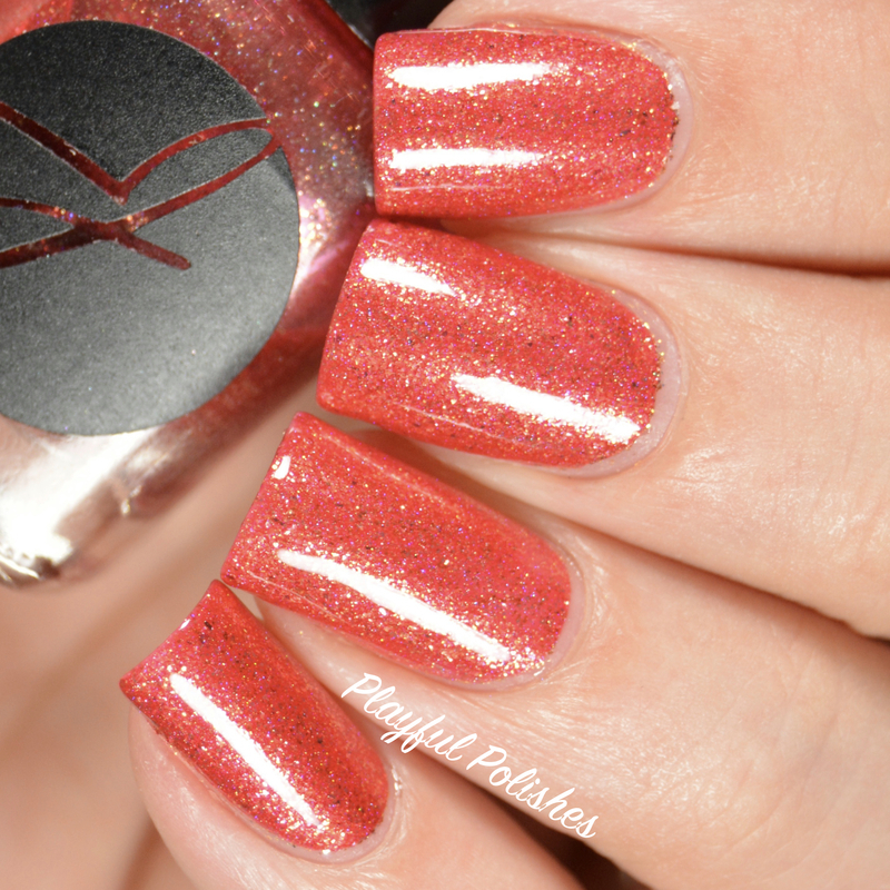 Jior Coture Fireplace Cuddling Swatch by Playful Polishes