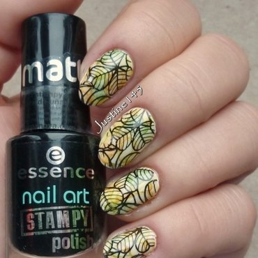 autumn leaves nail art by Justine145