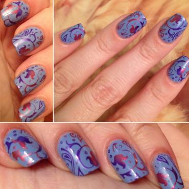 Lavender Dream nail art by Rox