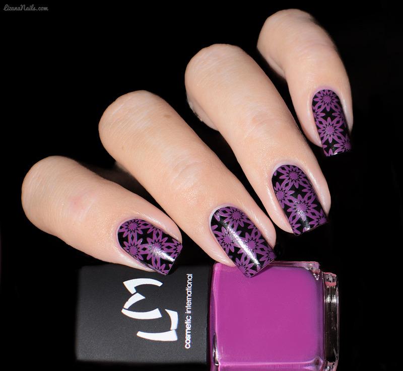 Vernis à Stamping Magenta - LM nail art by Lizana Nails - Nailpolis ...