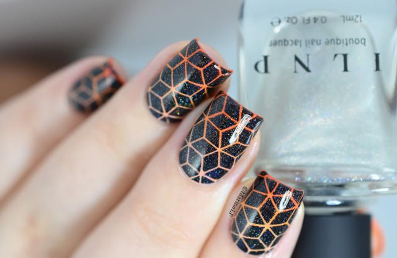 Tumbling Blocks nail art by Marine Loves Polish