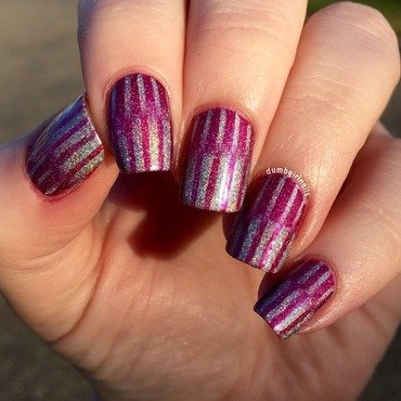 Holo Reciprocal Gradient nail art by Michelle