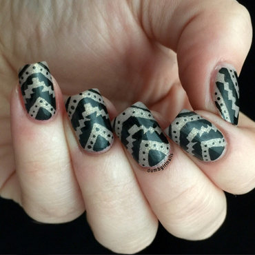 Sinful Tribal nail art by Michelle