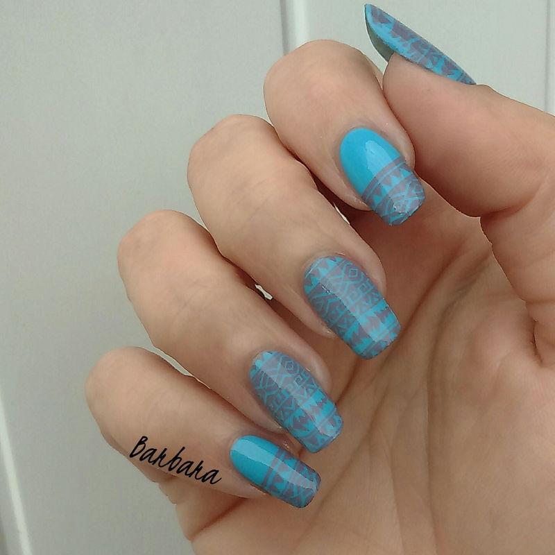 Aztèque nail art by Les ongles de B.