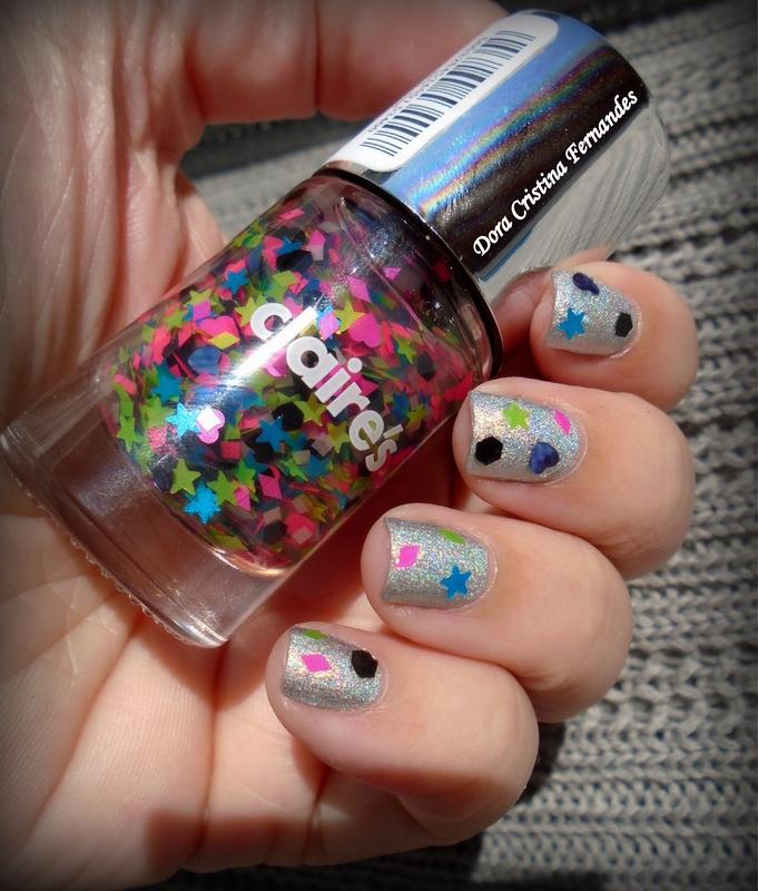 Neon&Holo  nail art by Dora Cristina Fernandes