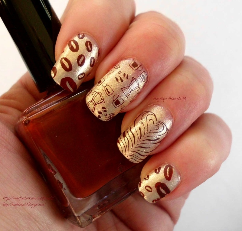 Coffee time! nail art by Angelique Adams