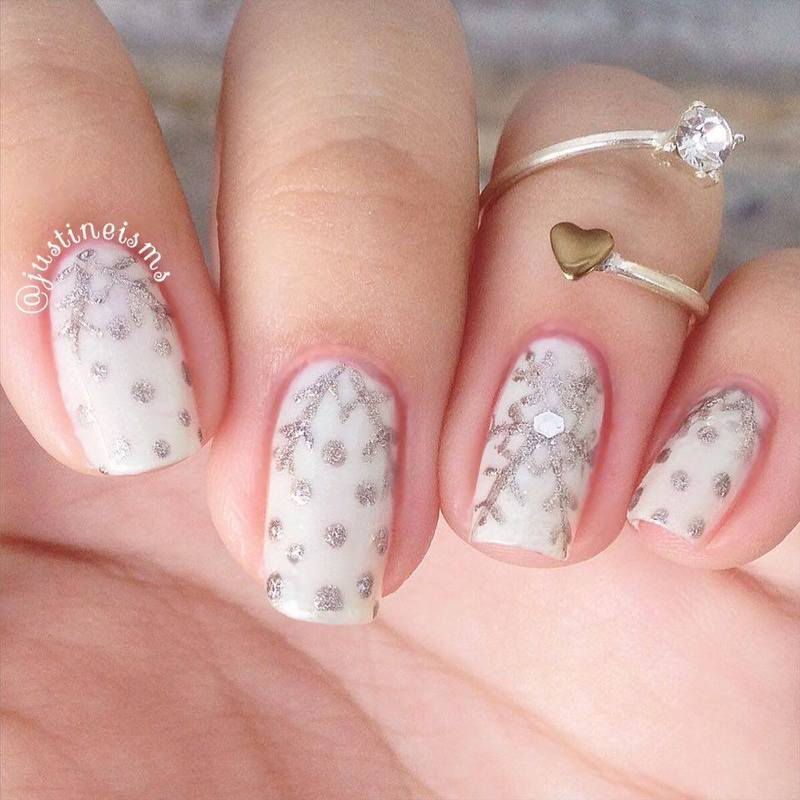 The First Snow nail art by ℐustine