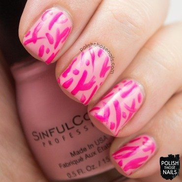 Sinful colors pink break creme neon abstract nail art 3 thumb370f