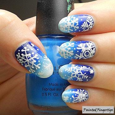 Snowflake nail art thumb370f