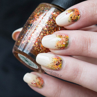 Indian Summer nail art by Kathrin