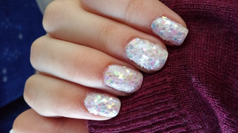 shattered glass nail art by Maya Harran