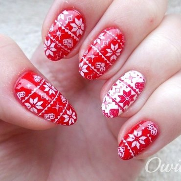 Uggly Christmas Sweater II nail art by Owidia