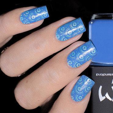 Vernis à Stamping Bleu Azur- LM nail art by Lizana Nails