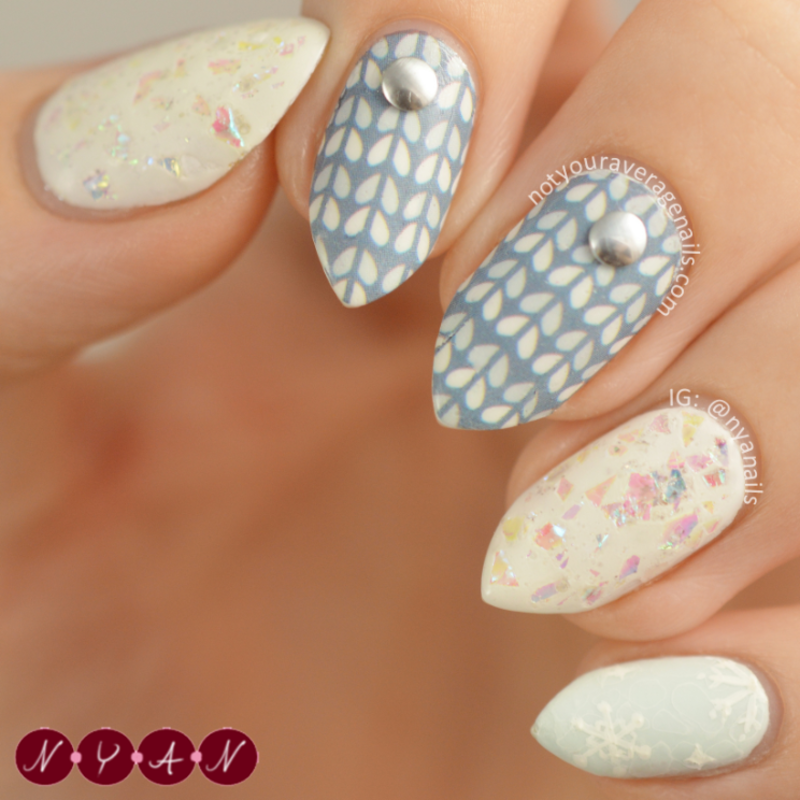 Sweater Weather nail art by Becca (nyanails)
