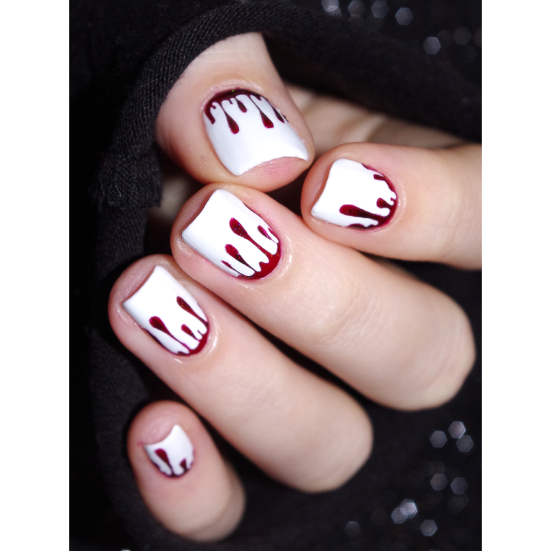 Bloody nails nail art by Bulleuw