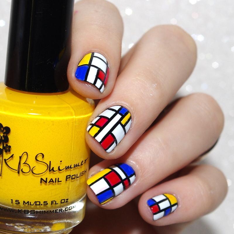 Mondrian nail art by Bulleuw