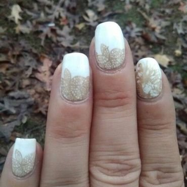 GOLDEN GODDESS nail art by Sunny