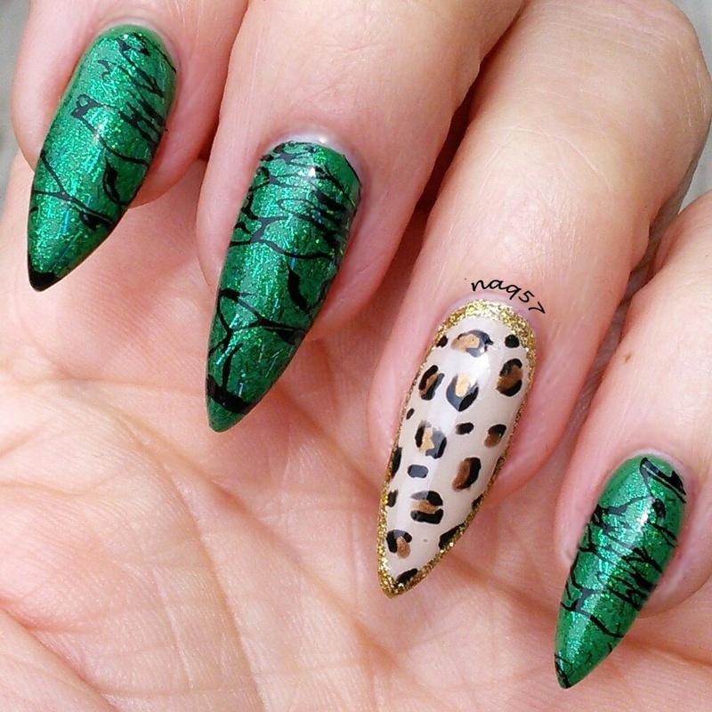 Emerald nail art by Nora (naq57)