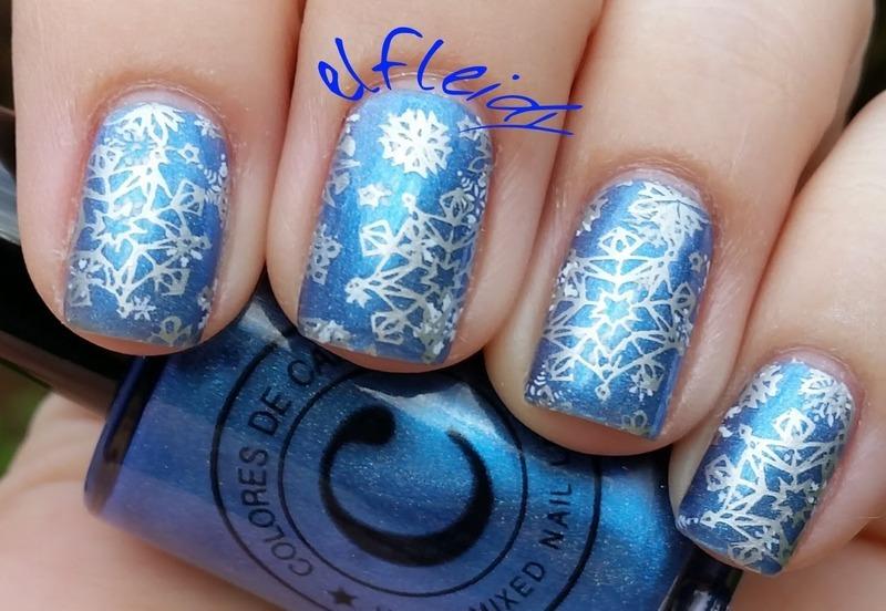 Snowflakes nail art by Jenette Maitland-Tomblin