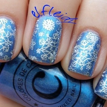Snowflakes nail art by Jenette Maitland-Tomblin
