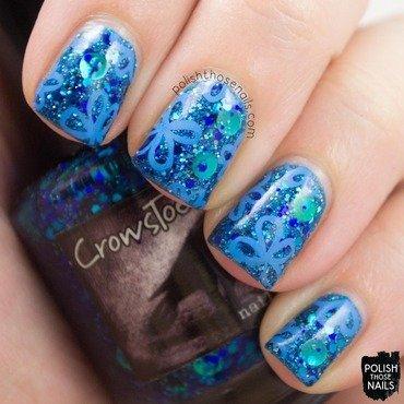 Florally Blue nail art by Marisa  Cavanaugh