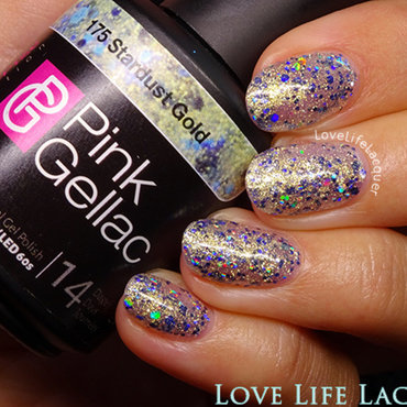 Pink Gellac Stardust Gold Swatch by Love Life Lacquer