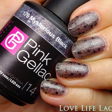Pink Gellac Mysterious Black Swatch by Love Life Lacquer