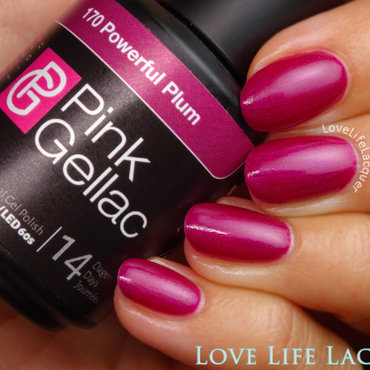 Pink Gellac Powerful Plum Swatch by Love Life Lacquer