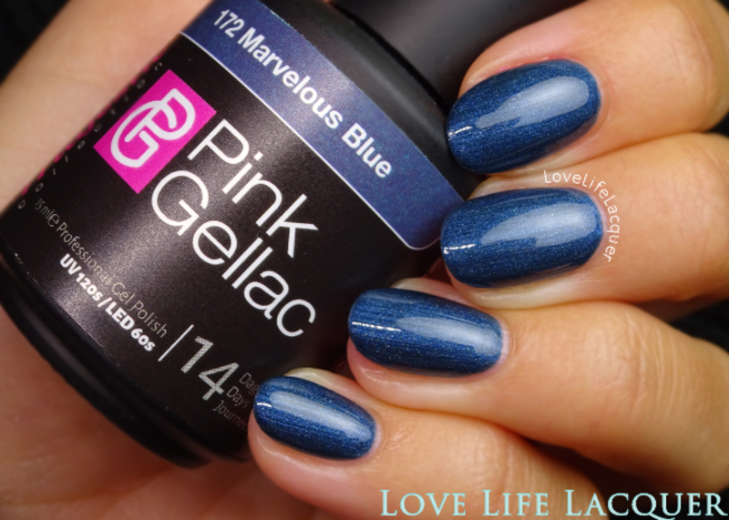 Pink Gellac Marvelous Blue Swatch by Love Life Lacquer
