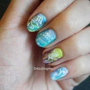 Zodiac Nails  nail art by D4zzling Me