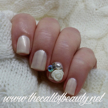 Pearly Manicure nail art by The Call of Beauty