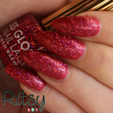 piCture pOlish Scarlett and Floss gloss Second Base Swatch by Ritsy NL