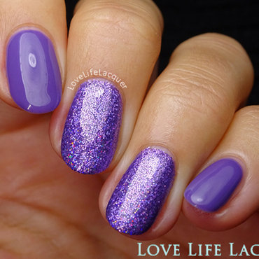 Magpie Beauty Violet nail art by Love Life Lacquer