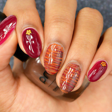 Thanksgiving Fan Brush nail art by Fatimah