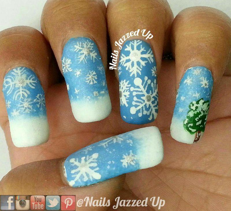 Snowflakes nail art by Divya Pandey