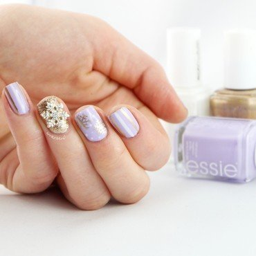 Winter Wonderland nail art by Ann-Kristin