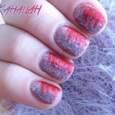 Fan brush manicure nail art by Kahaliah