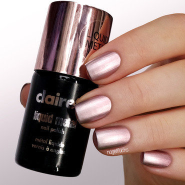 Claire's Liquid Metal Rose Gold Swatch by nagelfuchs