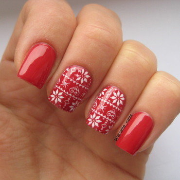 Norwegian sweater nail art by specialle
