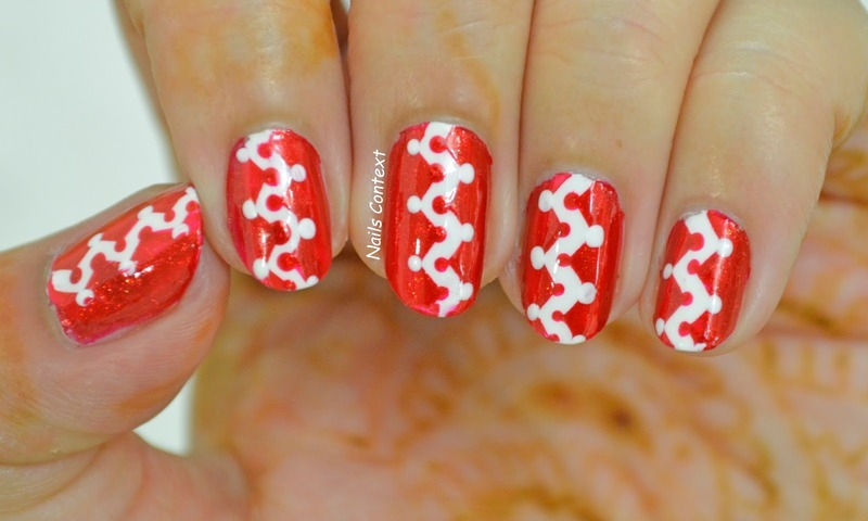 Festive Nails  nail art by NailsContext