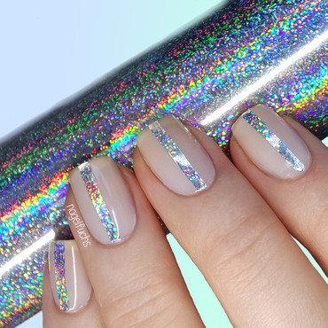 Holo Glitter Stripes nail art by nagelfuchs