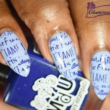 Pairs - Stamping Saturdays #11 nail art by glamorousnails23